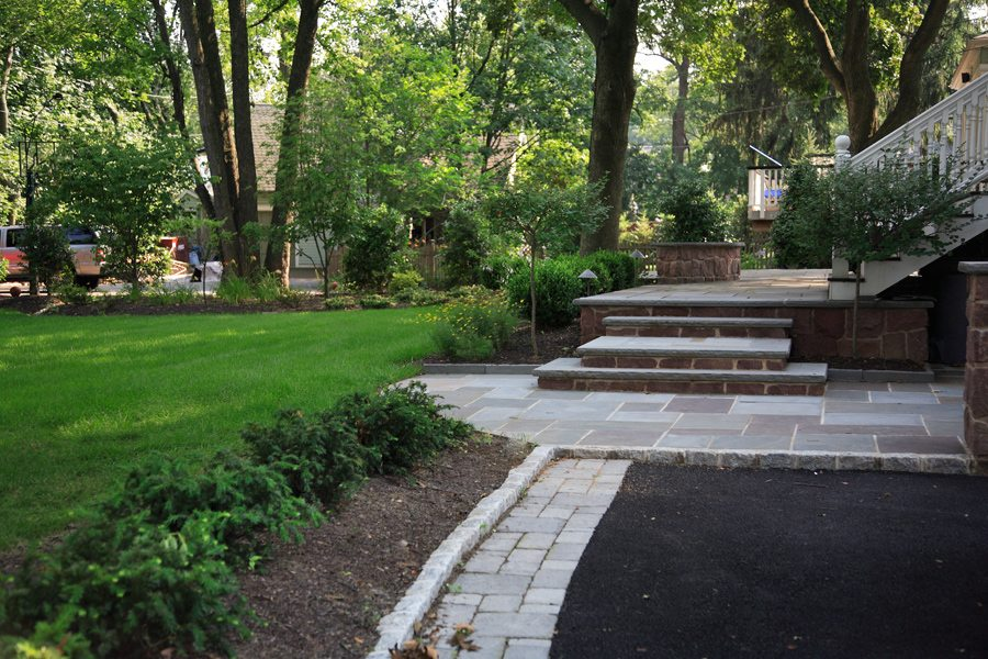 Backyard Patio and Driveway in Montclair NJ