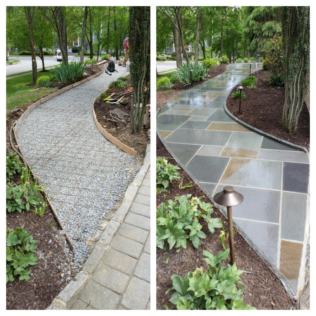 Bluestone Walkway - Morristown, NJ - Before / After