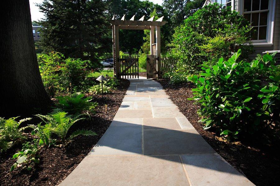 Bluestone Walkway Set in Concrete