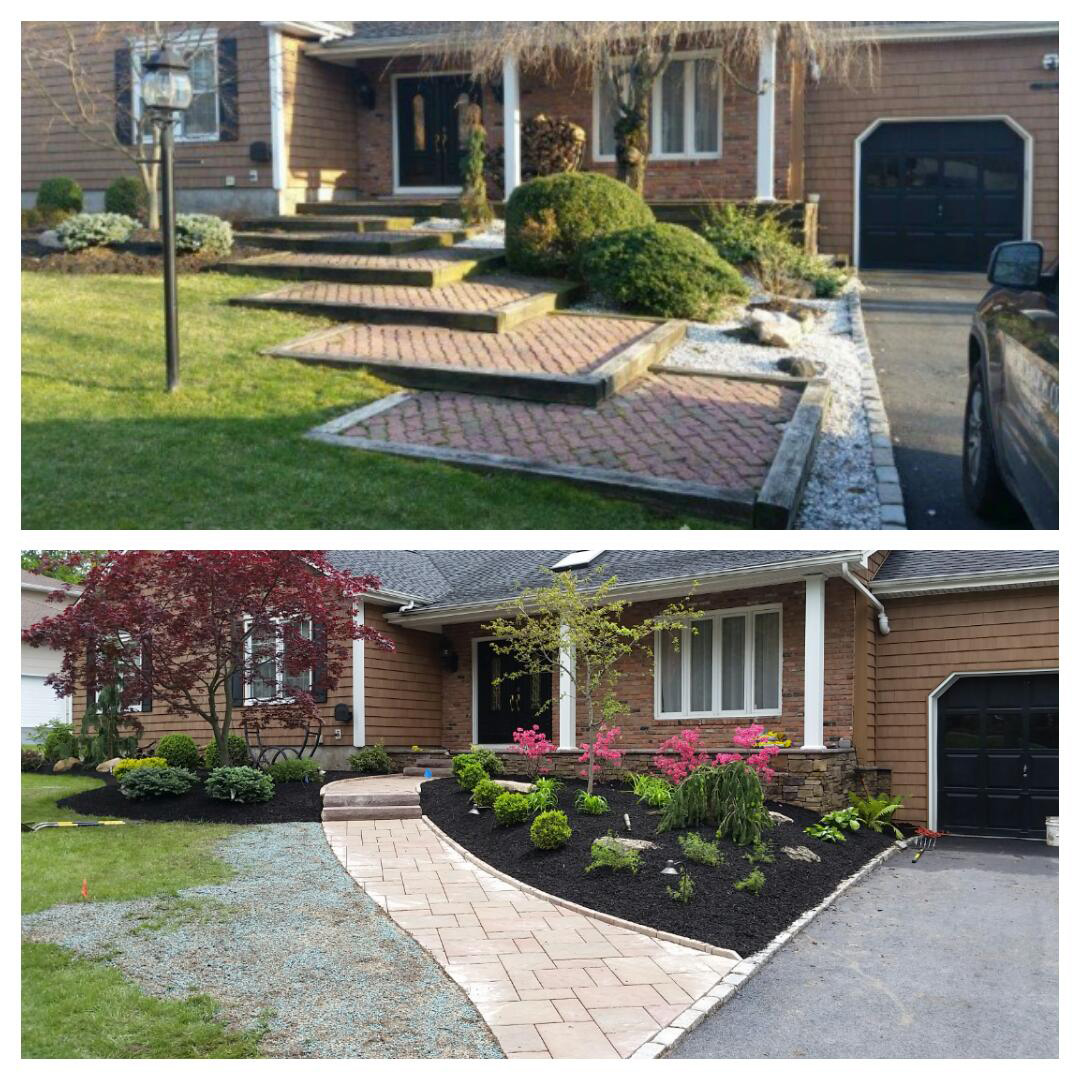 Front Walkway and Stoop - Montville, NJ - Before / After