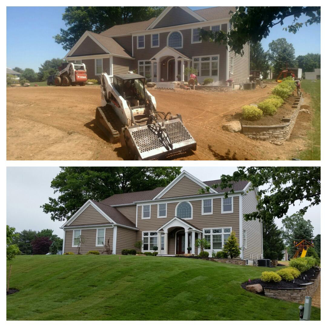 Front Yard Makeover - Succasunna, NJ - Before / After
