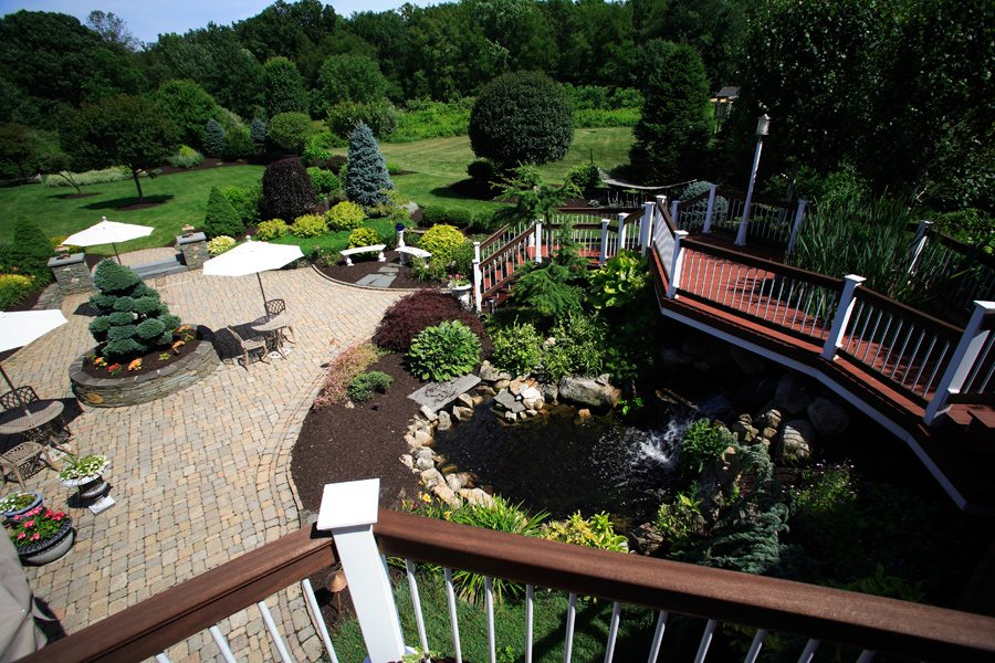 Pond with Paver Patio in Randolph NJ