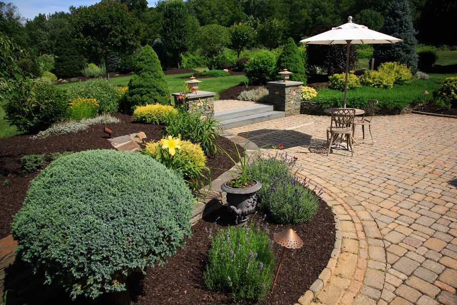 Backyard Patio and Plantings in Randolph NJ