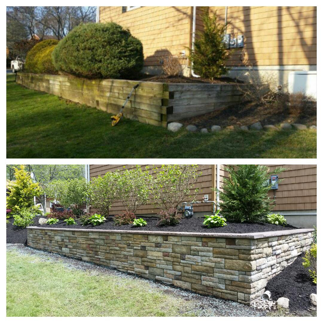 Retaining Walls - Montville, NJ - Before / After