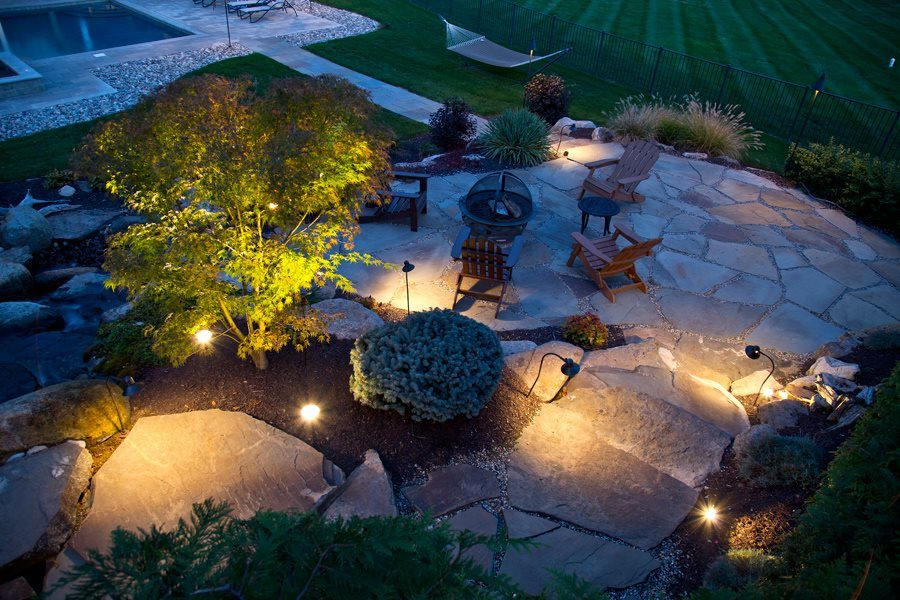 Outdoor Lighting for Flagstone Patio