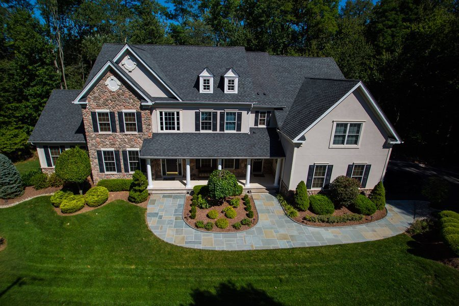 Aerial View of Landscaped Property in Randolph NJ