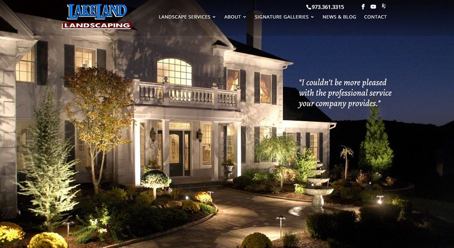 Lakeland Landscaping Launches New Website