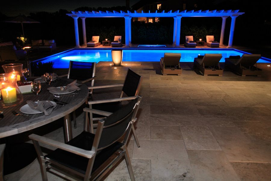Travertine Patio and Pool