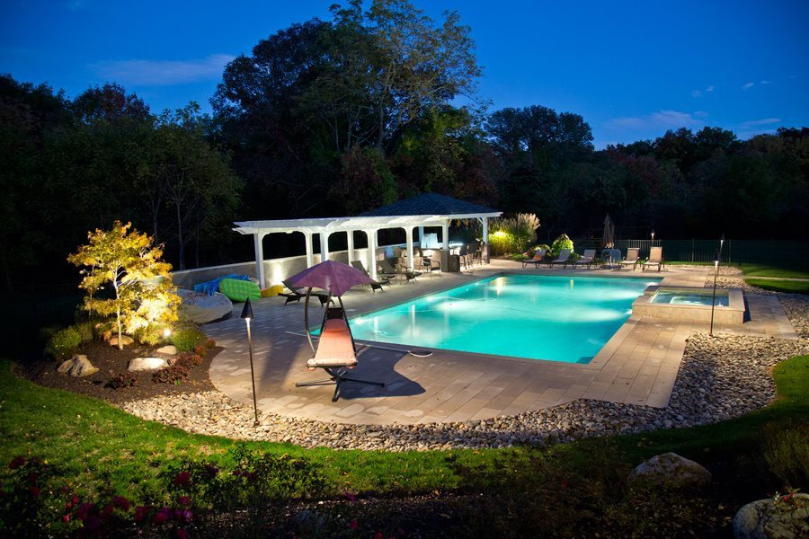 Landscape Lighting of Pool and Pool Deck
